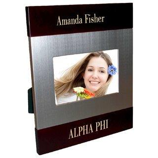 Alpha Phi Brush Silver Frame