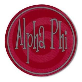 "Alpha Phi Bumper Stickers 4"" Round"