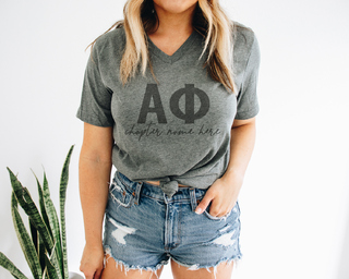 Alpha Phi Chapter V-Neck Tee