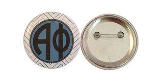 Alpha Phi Chevron Monogram Button