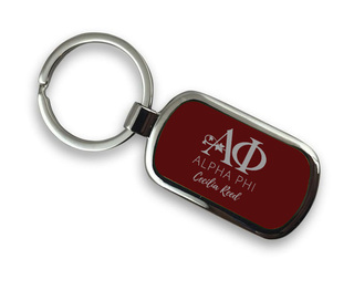 Alpha Phi Chrome Mascot Key Chain