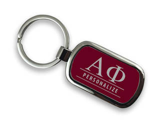 Alpha Phi Chrome Custom Keychain