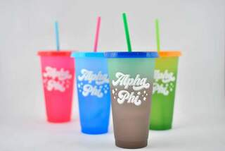 Alpha Phi Color Changing Cups (Set of 4)