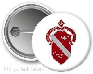 Alpha Phi Color Crest - Shield Button