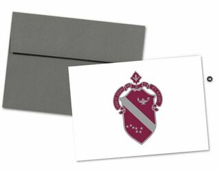 Alpha Phi Color Crest - Shield Notecards(6)