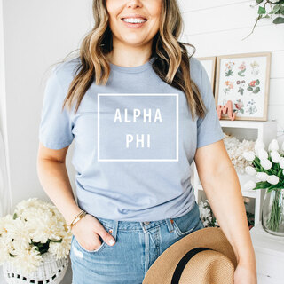 Alpha Phi Comfort Colors Box Tee