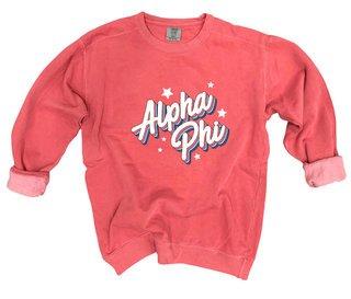 Alpha Phi Comfort Colors Flashback Crew