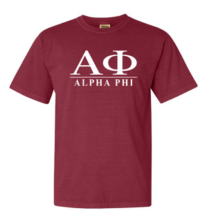 Alpha Phi Comfort Colors Heavyweight T-Shirt