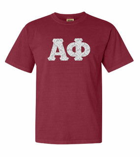 Alpha Phi Comfort Colors Lettered Greek Short Sleeve T-Shirt