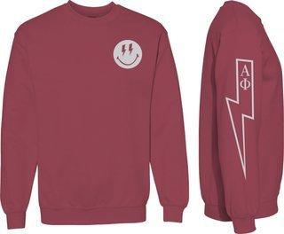 Alpha Phi Comfort Colors Lightning Crew Sweatshirt