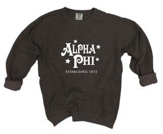 Alpha Phi Comfort Colors Old School Custom Crew