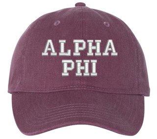Alpha Phi Comfort Colors Pigment Dyed Baseball Cap