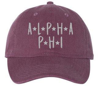 Alpha Phi Comfort Colors Starry Night Pigment Dyed Baseball Cap