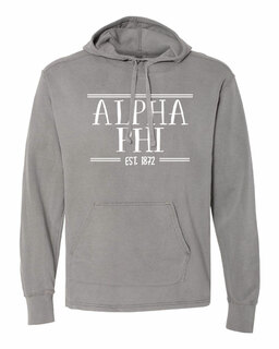 Alpha Phi Comfort Colors Terry Scuba Neck Custom Hooded Pullover