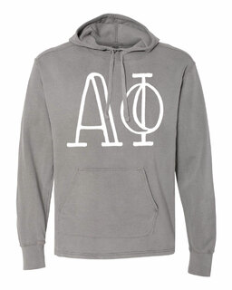 Alpha Phi Comfort Colors - Terry Scuba Neck Greek Hooded Pullover