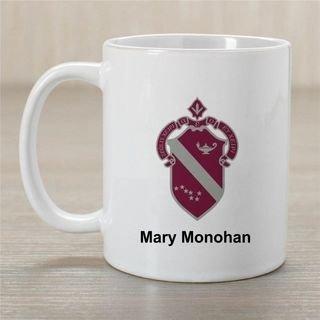 Alpha Phi Crest Coffee Mug