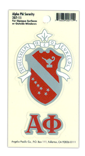 Alpha Phi Crest - Shield Decals
