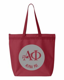 Alpha Phi Circle Mascot Tote bag