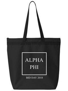 Alpha Phi Box Tote bag