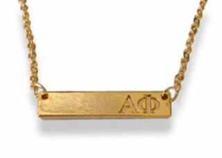 Alpha Phi Cross Bar Necklace