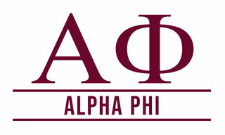 Alpha Phi Custom Sticker - Personalized