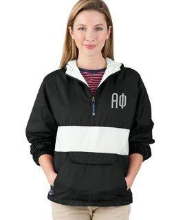 Alpha Phi Fabulous Font Pullover Anorak