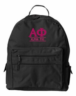 Alpha Phi Custom Text Backpack