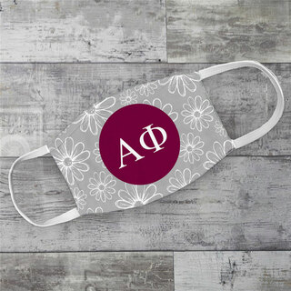 Alpha Phi Daisies Face Mask