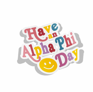 Alpha Phi Day Decal Sticker