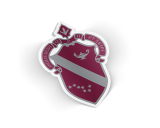 Alpha Phi Die Cut Crest Sticker