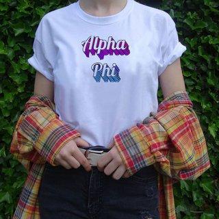 Alpha Phi Echo Tee - Comfort Colors