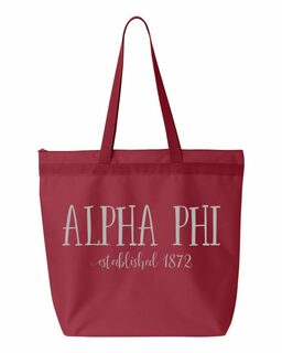 Alpha Phi Established Tote bag
