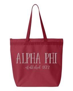 Alpha Phi Established Tote bag