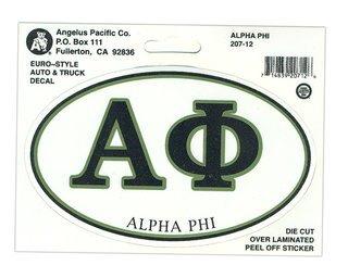 Alpha Phi Euro Style Sticker