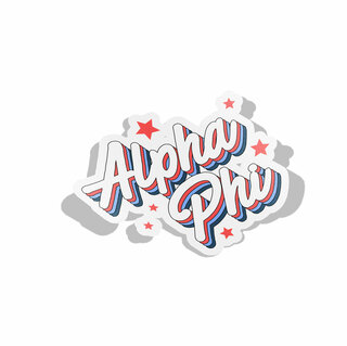 Alpha Phi Flashback Decal Sticker