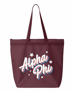 Alpha Phi Flashback Tote bag