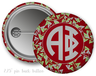 Alpha Phi Floral Button