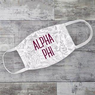 Alpha Phi Floral Face Mask