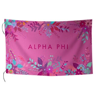 Alpha Phi Floral Flag