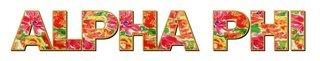 "Alpha Phi Floral Long Window Sticker - 15"" long"