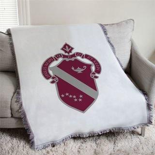 Alpha Phi Full Color Crest Afghan Blanket Throw