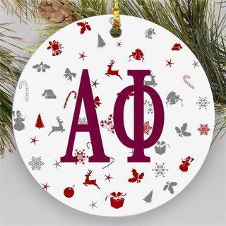 Alpha Phi Holiday Cheer Ornaments