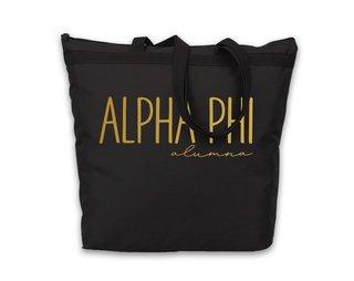 Alpha Phi Gold Foil Alumna Tote