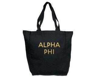 Alpha Phi Gold Foil Tote bag