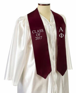 Alpha Phi Embroidered Graduation Sash Stole