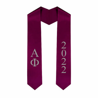 Alpha Phi Greek Lettered Graduation Sash Stole With Year - Best Value