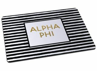 Alpha Phi Striped Mousepads