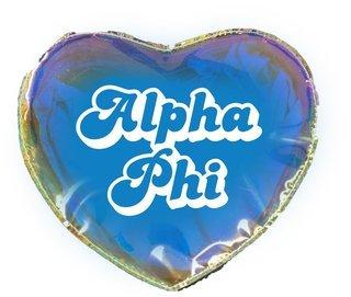 Alpha Phi Heart Shaped Makeup Bag