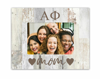 Alpha Phi Hearts Faux Wood Picture Frame