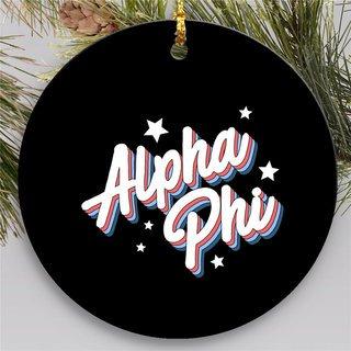 Alpha Phi Holiday Flashback Ornaments